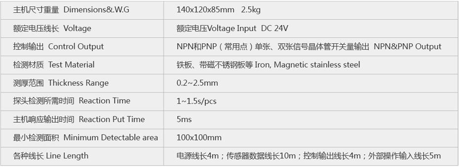 SP-818单探头重叠检测器参数