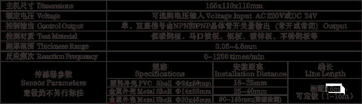 金属双料检测器HJG.SP-NP3参数